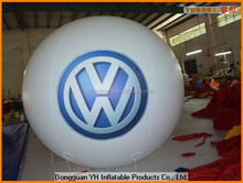 0.18mm PVC inflatable advertising flying balloon with logo in Sky