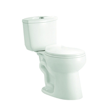 Smooth glazed bathroom two piece siphon wc toilet
