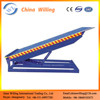 Hydraulic yard ramp for loading car/6ton capacity stationary loading ramp