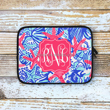 Personalized Inspired Monogrammed Lilly Pulitzer Laptop Sleeve