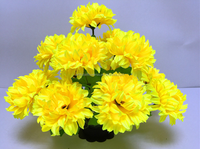 Wholesale high quality 14 heads chrysanthemum artificial chrysanthemum for funeral decoration