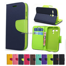 Fancy Dual Colour Leather PU Mobile Phone Case For Nokia LUMIA 550 ,Korea Style Flip Cover For Nokia LUMIA 550