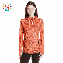 Tri blend slouch orange hoodie Personalized drop tail Ladies full sleeve knitted Clothing Pullover Sweater