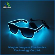 led party glasses, flashing night glasses, el wire led glasses