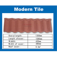roof tile sheet metal price / french roof tile / stone coated metal roof tile