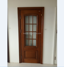 prefinished bedroom oak veneer door with glass