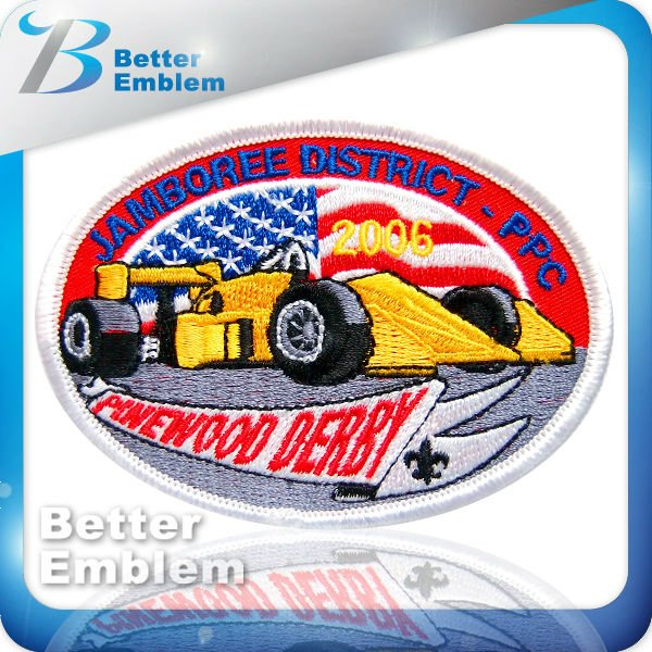 Car Embroidery Iron On Sports Patch