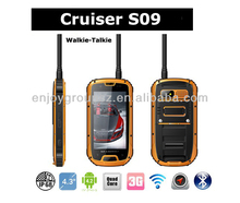 IP67 smartphone Android quad core 4.3inch rugged waterproof phone S09