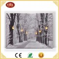 Winter landscape led canvas painting wall art picture