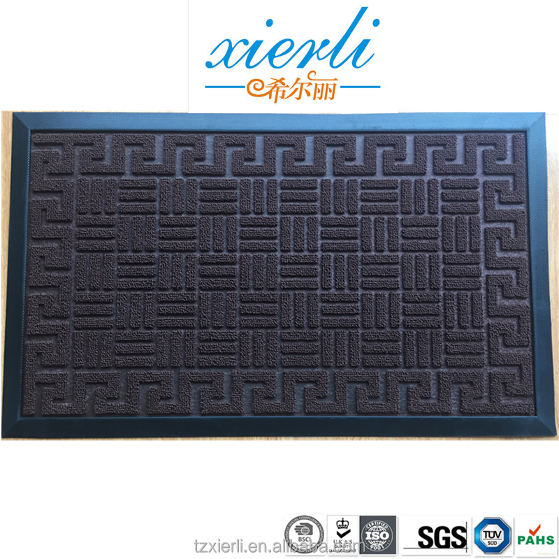 Brick shaped rubber door mat, PP floor mat, non slip mat