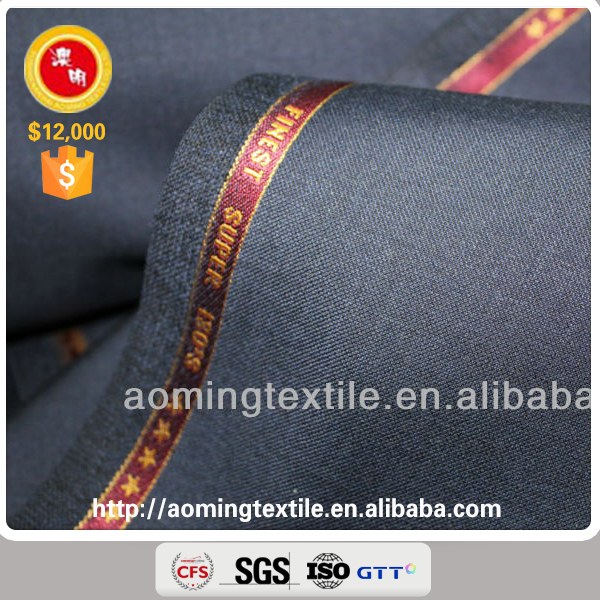 P2338-4 Worsted Blue 100% Wool Groom Wedding Suit Fabric in Hopsack