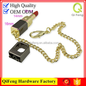 Brand bag lock with bag accessories turn lock closure for sales H shape swivel lock H-682