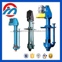 High efficiency submerisible vertical centrifugal axis slurry pulp pump