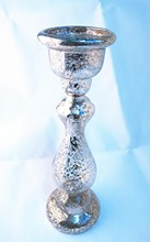 30cm high Hollow Ultralight Chroming Glass candle holder