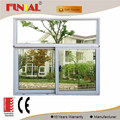 Double low-e glass energy saving aluminum profile glass sliding window
