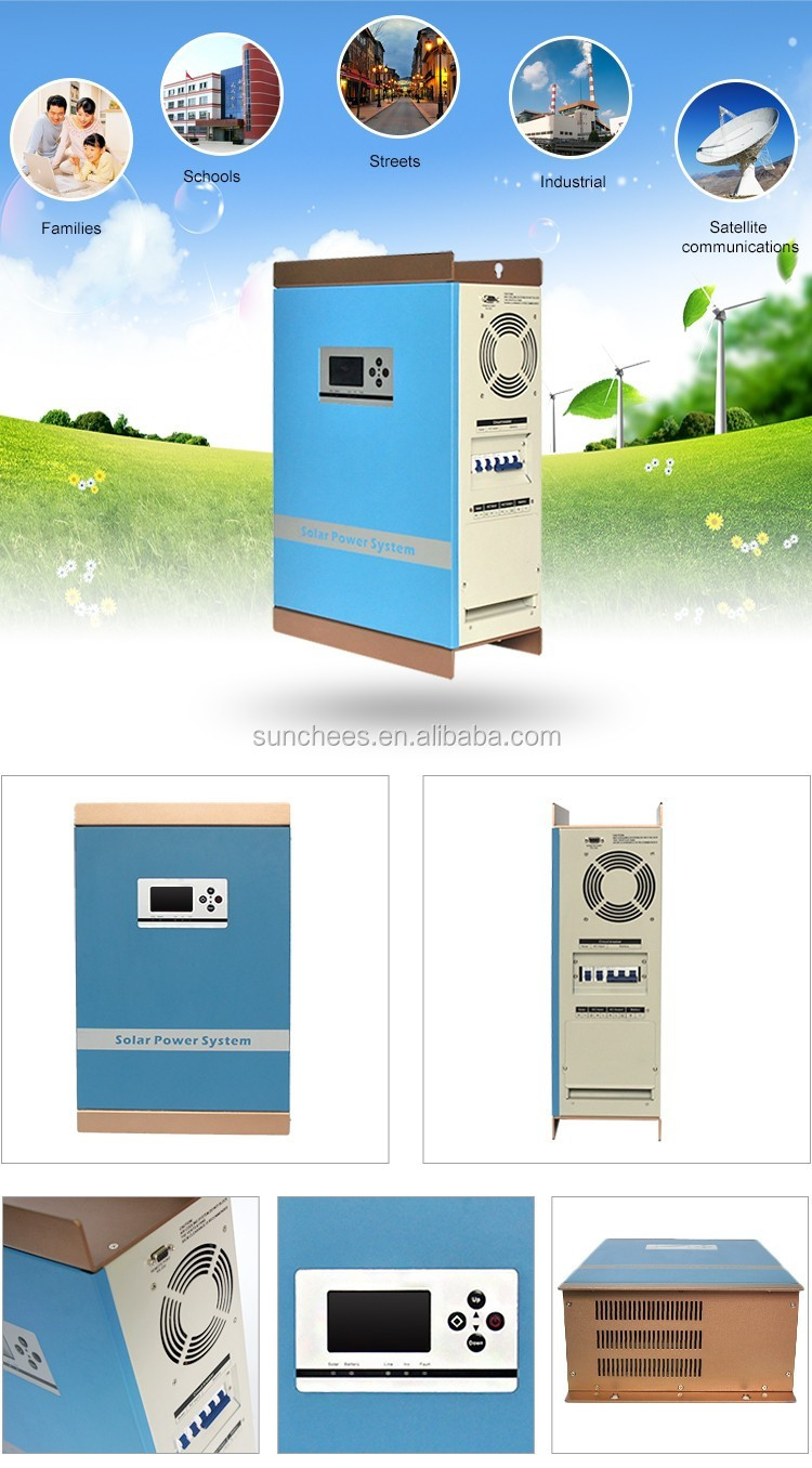 Hot sale!!!pure sine wave Dc ac inverter1kw 2kw 5kw 10kw made in china ; Solar hybrid inverter system for home