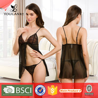 High Grade Hot Sexy Large Size Transprant Lace Lingeri Women
