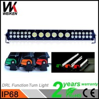 Auto spare parts car 2 years warranty 132w multi color end caps 12 volt led light bar daytime running fuction