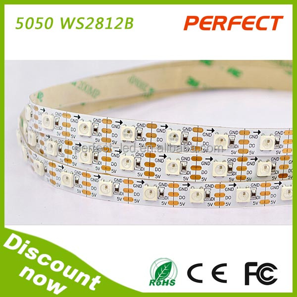 Addressable Led Digital Flexible Strip With 5v Ws2811 Ic 60 Smd 5050(ws2812b) with 3 years warranty