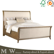 french upholstered king sleigh bed, upholstered king size sleigh bed, sleigh bed