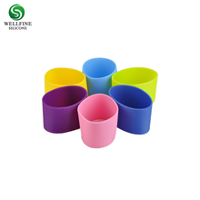 Heat Resistant Silicone Coffee Cup Sleeve,Custom Silicone Rubber Cup Sleeve