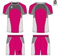 custom newest design hot sale mens nice pink soccer wear