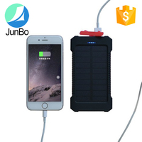 usb port portable 10000mah waterproof solar power mobile power bank