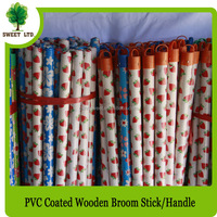 Sweet factory wooden poles with fruit design coated