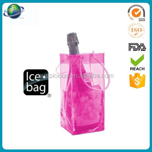 Wholesale Transparent Cool Wine Bag Ice Bag Waterproof Cooler Carriers