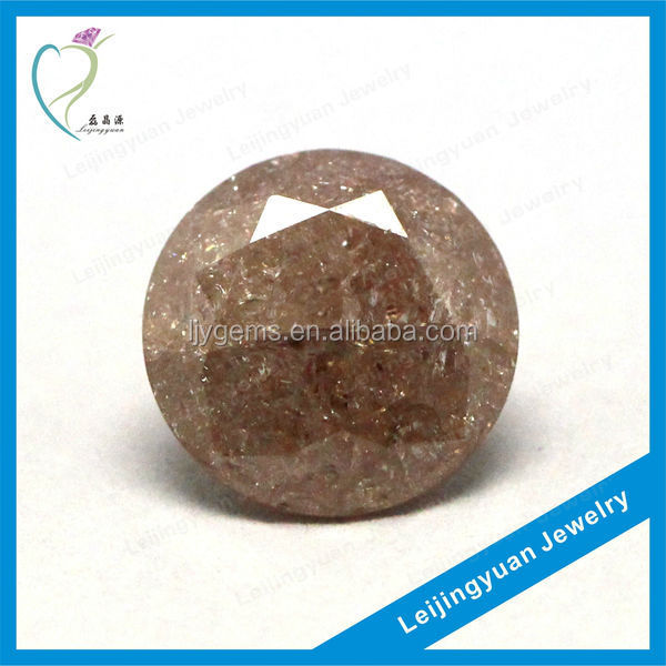 Cheap round coffee ice unpolished gemstones