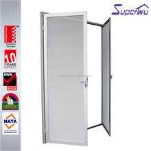 AU & NZ standard Aluminium for commercial double swing door with mosquito nets