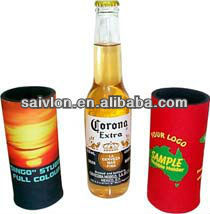 Custom printing neoprene can /bottle cooler, neoprene beer bottle sleeve, stubby holder