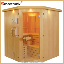 smartmak traditional type wood prefabricated house spa home beauty traditional steam sauna room for 4persons