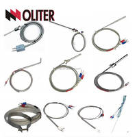 chromel -alumel thermocouple with compensation cable chromel / alumel constantan thermocouple aluminum