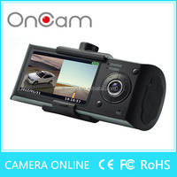 beautiful design X3000 dual camera car blackbox dvr with gps logger and g-sensor