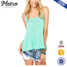 2016 Stylish Crochet Back Slub Cotton Sexy Tank Top