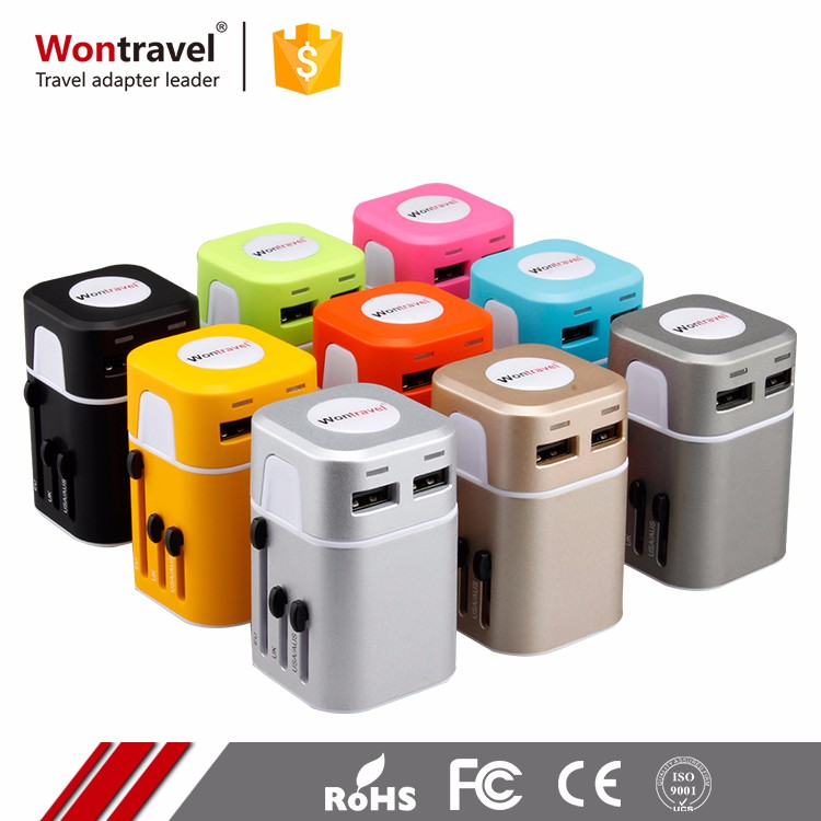 2017 online shopping new arrival dual usb ac/dc power travel adapter for smartphone
