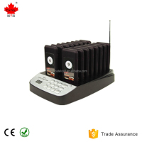 16 call Wireless Restaurant Pager Coaster Paging Queuing System + 1 Free Receiver with Rechargeable Battery 433.92MHz Pager