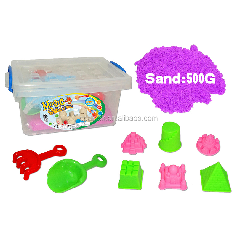 Colored magic space moving motion sand model