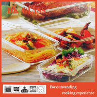 Dishwasher Freezer Safe Glass Food Container/Microwave Oven Lunch Box/Travel Food Warmer Lunch Box