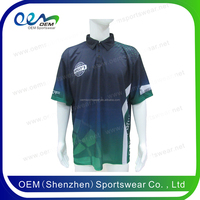Hawaiian color combination sports polo shirt printing