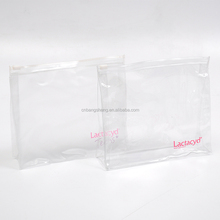 clear pvc zipper bag with printing