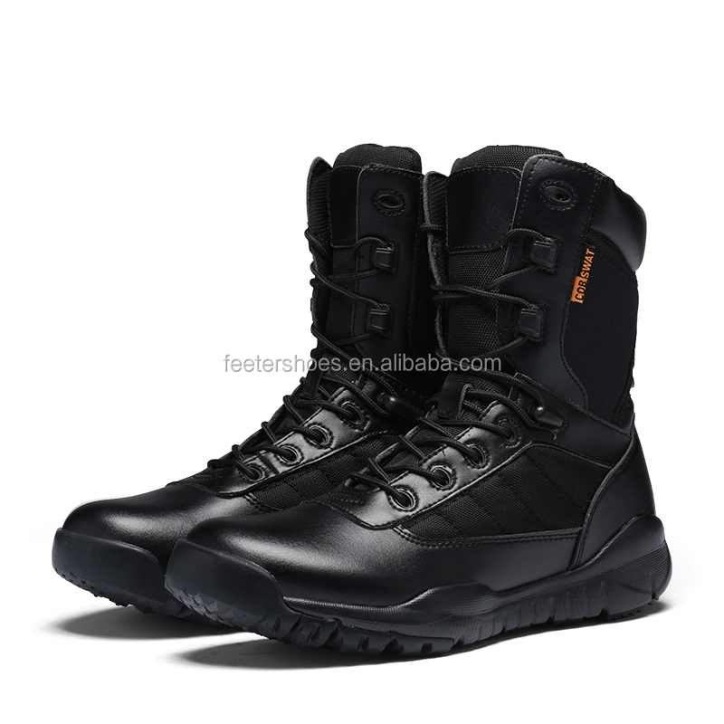 China factory wholesale oxford fabric military jungle boot liren-high ankle safety boot combat boot