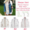 Wholesale Personalized Monogram Fleece Sherpa Vest