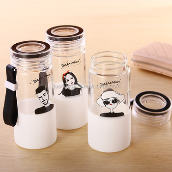 YXJ016 2017 most popular water glass/glass water bottle with images