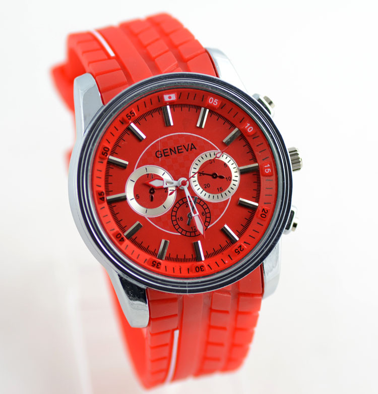 new style geneva bling bling big face watches mens top brand luxury hand watch wholesale products