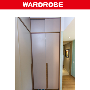 modern wooden sliding wardrobes closet design with aluminum door