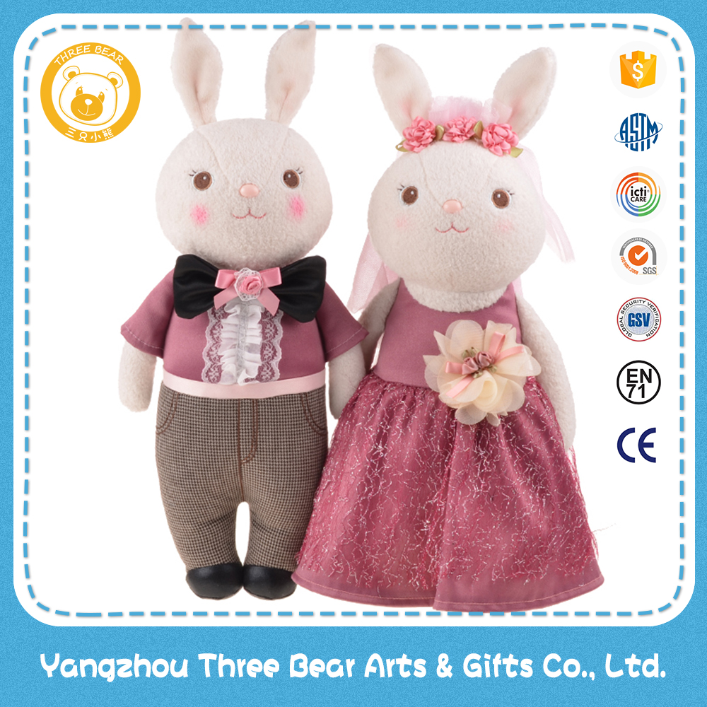 38cm stuffed plush rabbit wedding gift couple doll