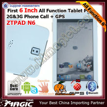 ZTPAD tablet sim 3g bluetooth gps with Dual core