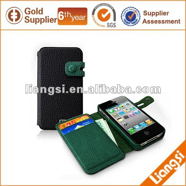 Funny Mobile Phone Leather Case With Card Holder
